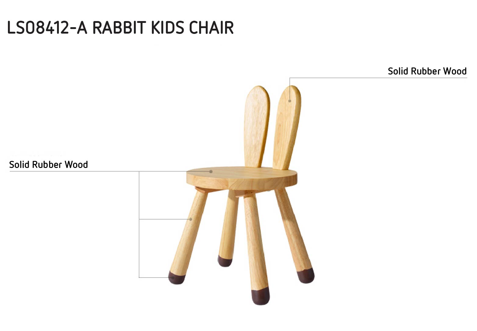 Rabbit Kids Chair Mumu Living