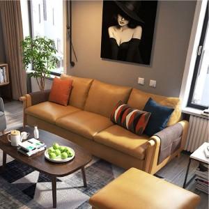 [AS IS] Bergen 3 Seaters Sofa - Tan Brown