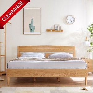 [LAST UNIT] Sato Solid Wood Queen Size Bed Frame
