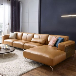 Halsey Leather Left Sectional Sofa
