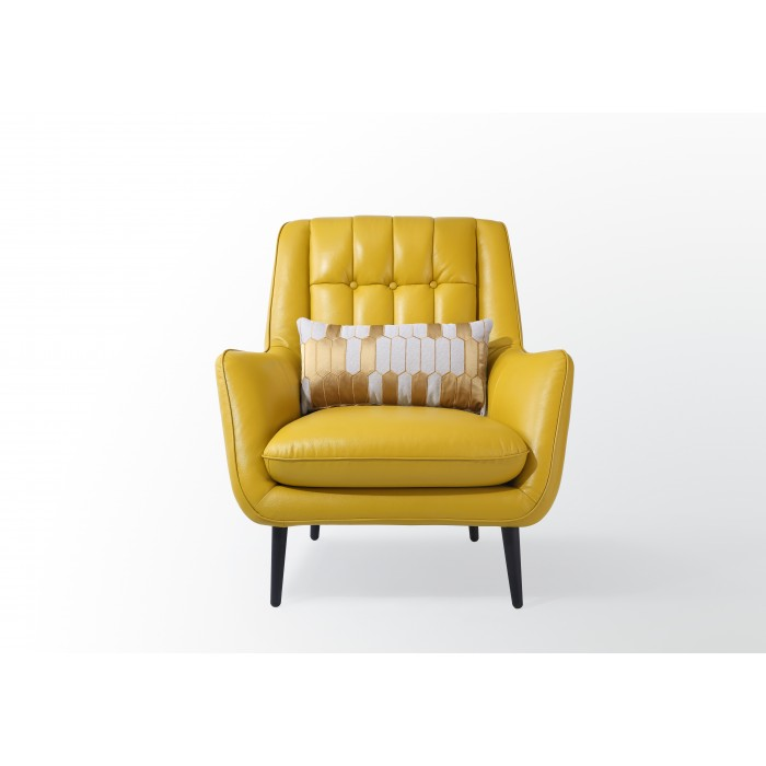Yellow leather chair Channeled Home Zahara Lemon Yellow Leather Armchair Click Image For Gallery Mumu Living Zahara Lemon Yellow Leather Armchair Mumu Living