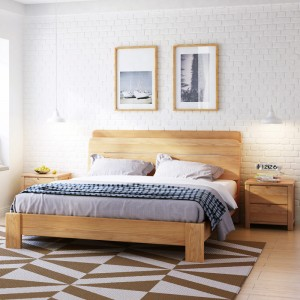 Asher Solid Wood Bed Frame